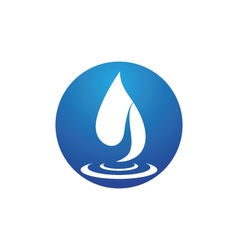 wave water logo Template vector image