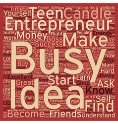 Teen entrepreneurs text background wordcloud vector