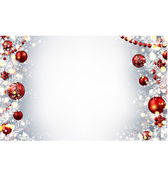 New Year background with Christmas balls vector image