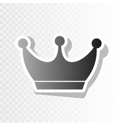 King crown sign  new year blackish icon on vector