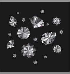 Diamonds set vector