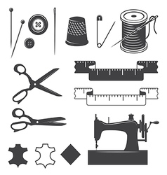 Sewing elements vector