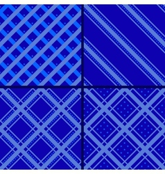 blue star striped pattern vector image
