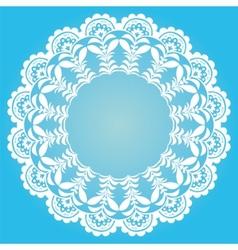 Retro round garland vector image