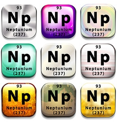 A button showing the element neptunium vector