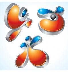 3d logo vector image vector image