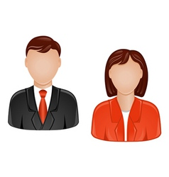 Man and woman avatars vector