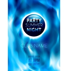 Night club colorful flyer template vector