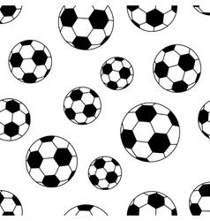 seamless soccer ball vector image