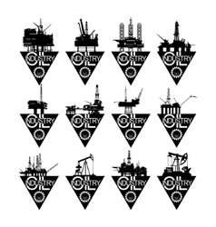 Icons oil industry-1 vector image