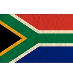 South africa paper flag vector