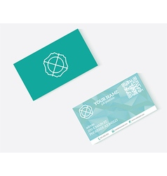 Objects business card vector