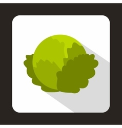Cabbage icon in flat style vector