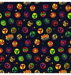 Mexican wrestling seamless pattern vector