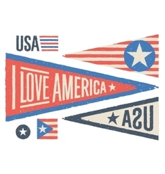 Set of design elements for Independence Day in USA vector image