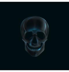 A human skull x-ray print medical concept vector