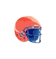 American football helmet wpa vector