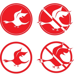 bird dragon vector image vector image