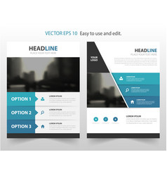 Blue abstract annual report brochure vector