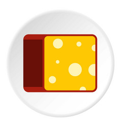 Cheese icon flat style vector