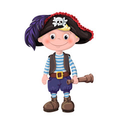 cute boy of children pirates vector image vector image