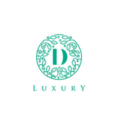 d letter logo luxurybeauty cosmetics logo vector image vector image
