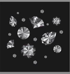 diamonds set vector image
