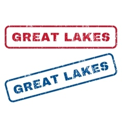 Great lakes rubber stamps vector