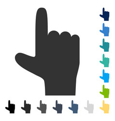 Hand pointer up icon vector
