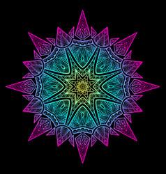Mandala black new 6 vector