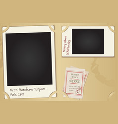 Scrapbooking page set - retro paper photo frames vector