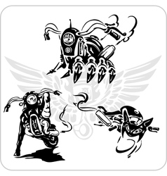 set - Bike symbol vector image