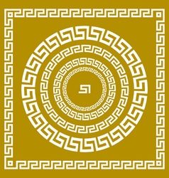 Set traditional vintage golden square and round vector