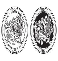 Slavic dove vector image vector image