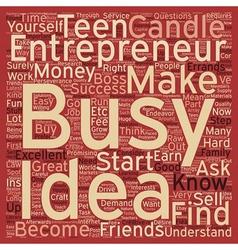 Teen entrepreneurs text background wordcloud vector