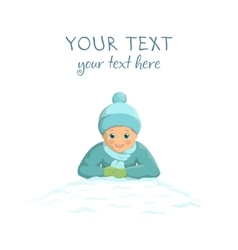 Winter boy fun isolated vector