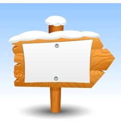 Wooden sign snow post icon symbol label vector