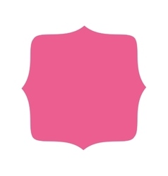 pink badge icon vector image
