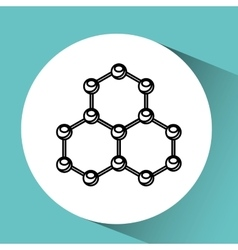 Hand holding molecule research vector
