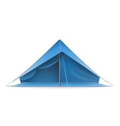Blue tourist tent vector