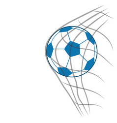 Soccer ball with net vector