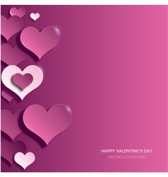 Modern bright valentines day background vector