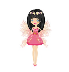 Little fairy card vector