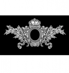 Antique crown royal frame vector