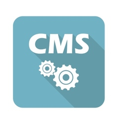 Square cms icon vector