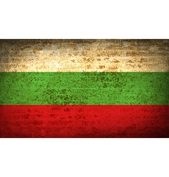 Flags bulgaria with dirty paper texture vector