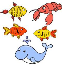 Set of animals for childs vector