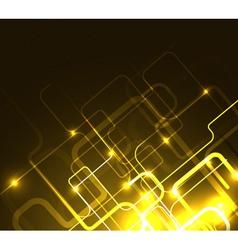 stylized glowing background vector image