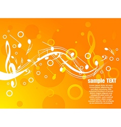 Musical background with sample text vector