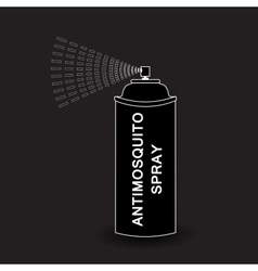 Aerosol spray spray isolated on black vector